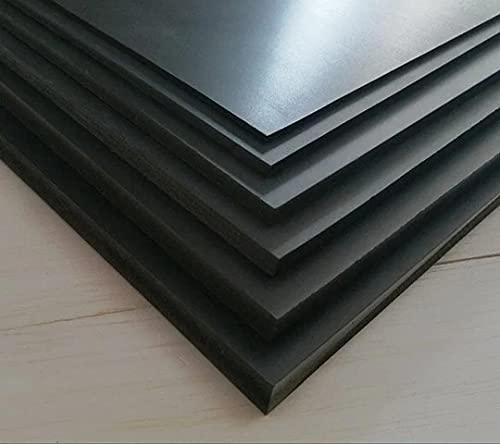 Láminas hojas tableros plástico PVC negro espumado semirigido 5mm. Decoración, artistas, fotografías, vinyls, soportes, manualidades, pintura, cartel, poster, separaciones, manparas (Muestra)
