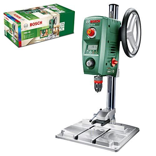 Bosch Home and Garden 0603B07000 Trapano a Colonna per Acciaio e Legno, 710 W, Verde13 mm e 40 mm, 200 – 850 / 600 – 2.500 giri/min