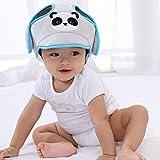 NOBRAND - Cappello di sicurezza per bambini con casco protettivo, motivo: animali cartoni animati, AK3-AT105-GL-M-X, Blu