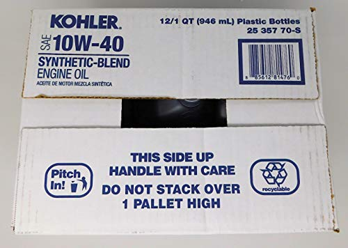 Review Kohler 25 357 70-S (Case of 12) SAE 10W-40 Synthetic-Blend Engine Oil