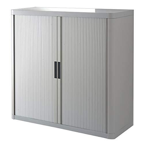 Paperflow Rollladenschrank EASYOFFICE - 2 Fachböden, Höhe 1040 mm - grau/grau - Aktenschrank Aktenschränke Büroschrank Büroschränke Rollladenschrank Rollladenschränke Schrank Schränke
