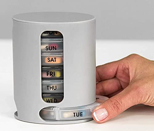 Deriz Pill Pro 7 Days Weekly Tablet Medicine Storage Organizer Box Pill Box
