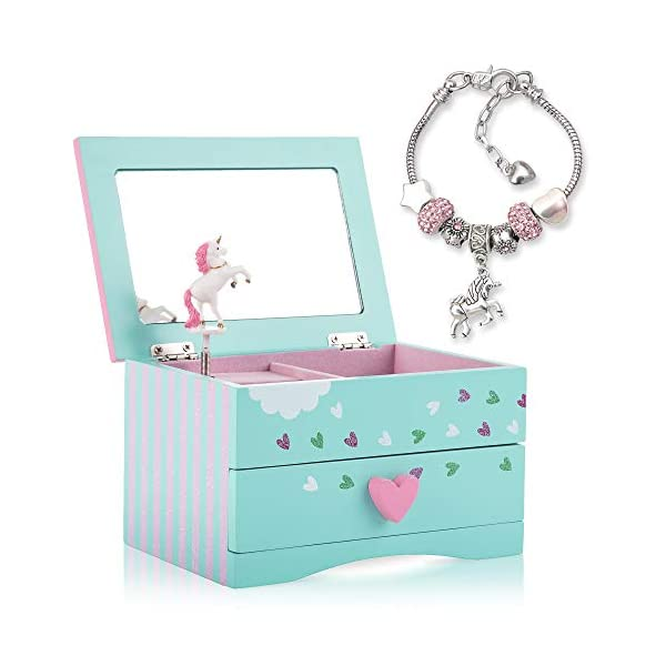 Amitié Lane Unicorn Jewelry Box For Girls - Two Unicorn Gifts For Girls Plus Augmented Reality App (STEM Toy) - Unicorn… 3