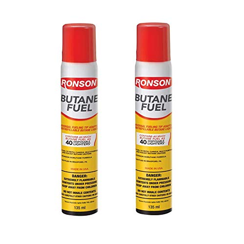 Ronson 99146 2 Large Lighter Butane Refill 78 Grams 2.75 Ounce (Pack of 2)