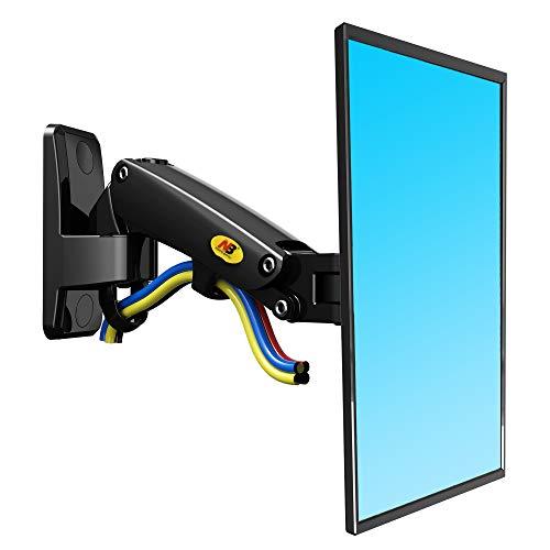 NB North Bayou F120 17'-27' Supporto da parate per televisore scrivania per Monitor con Braccio Monitor Regolabile 360° da Molla a Gas per Monitor de 17'-27' VESA 75 100 (Nero)