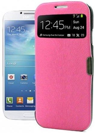 itronik® Flip Cover Schützende Display-Klappe mit Fenster und Magnetverschluss für Samsung Galaxy SIV S4 I9500 I9505 pink