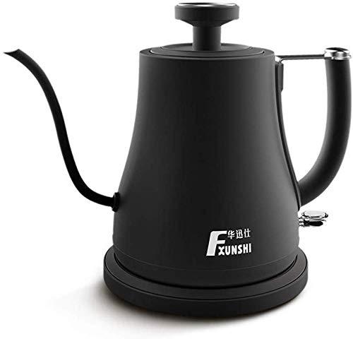 Dsnmm Gooseneck waterkoker koffiepot, theepot druppelkoffiezetapparaat roestvrij staal theeketel lange smalle tuit koffie pot opknoping oor koffie beker