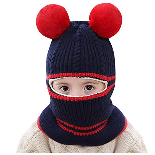 Kids Cute Winter Baby Hut Schal Set Dick Kinder Hut Schals Anzüge Gestrickt Kinder...
