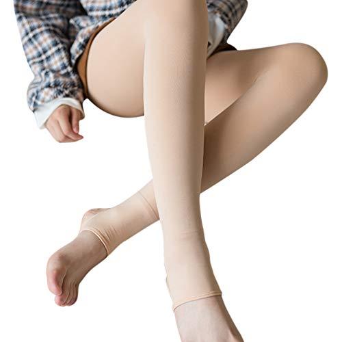 Zeaih Leggings, kunstleggings, transparant, panty's, warm, dik, elastisch, gevoerd, voor vrouwen