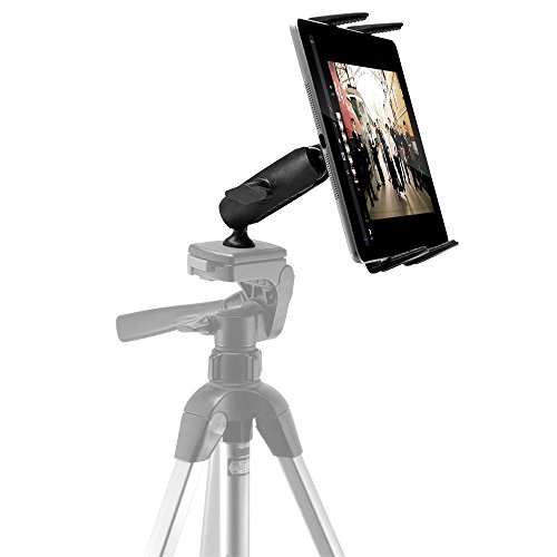 ChargerCity HDX Heavy Duty Tablet Photo Booth Video Record Tripod Stand Mount w/Dual 360° Swivel Joint for Apple iPad Pro Air Mini Samsung Galaxy Tab S Nexus LG Microsoft Surface Pro/Book Slate
