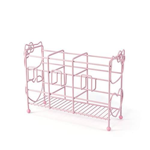 SBLIN Lagerregal Regal Schmuckhalter Geeignet für Küche, Schlafzimmer, Büro, Bad, stanzfrei (pink)