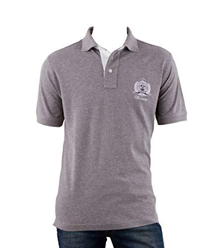 OTTO KERN Poloshirt in Grau aus Baumwolle mit Emblem, Größe: M