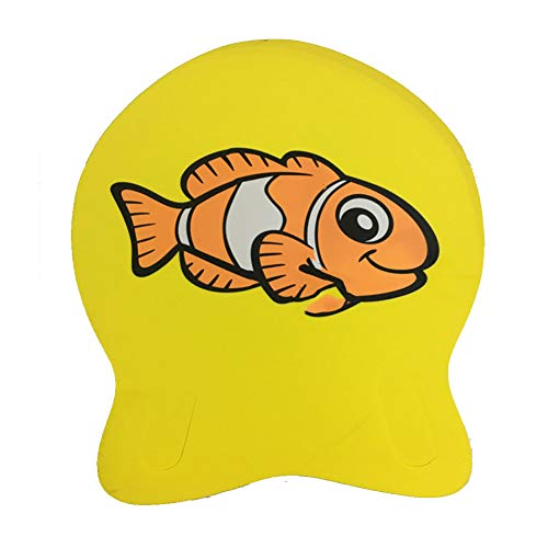 LCSA Tabla de natación para entrenamiento de natación,Tabla de natación unisex para adultos Scooter de espuma,Tablero de entrenador de natación senior amarillo