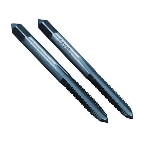 Drillco 2090 Series High-Speed Steel Thread Forming Threading Tap Finish Bright 4-48 UNF Bottoming Chamfer Round Shank with Square End Uncoated