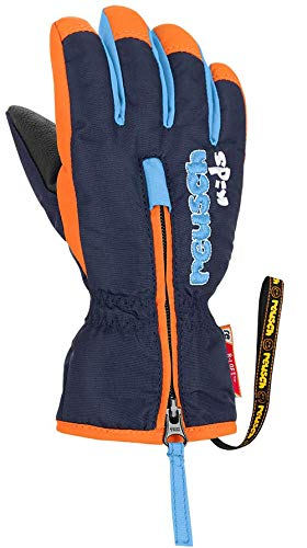 Reusch Baby Ben Handschuh, Dress Blue/Orange Popsicle, IV