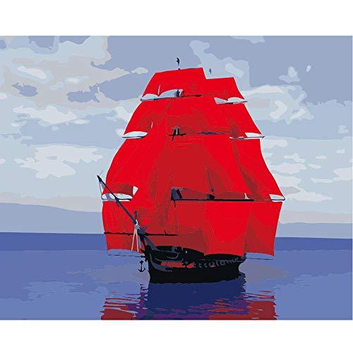 yaoxingfu Kein Rahmen Segelboot auf Leinwand auf Leinwand30x45cm