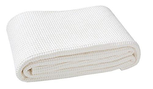 Blanc des Vosges Electre Dessus de lit Coton Nougat 240 x 260 cm
