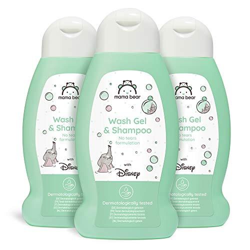 Mama Bear - Disney - Baby-Waschgel und Shampoo (Keine-Tränen-Formel) - 3-er Pack x 300ml
