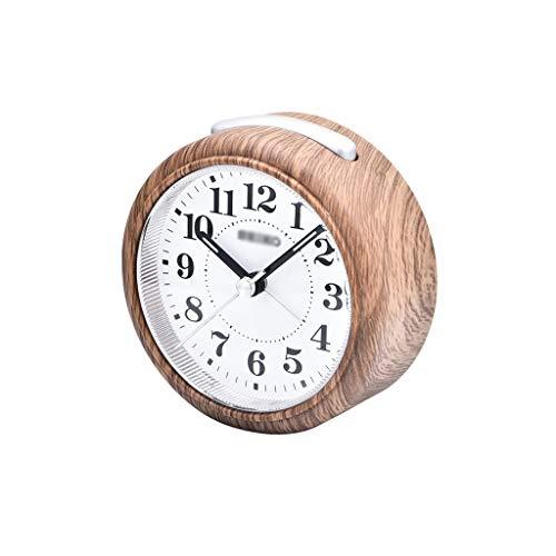 ZRL Despertadores Despertador para el Dormitorio Silent Non Ticking Kids Reloj Despertador Light Reloj de Alarma Snooze y Funciones d Luz Alarm Clock (Color : Black)