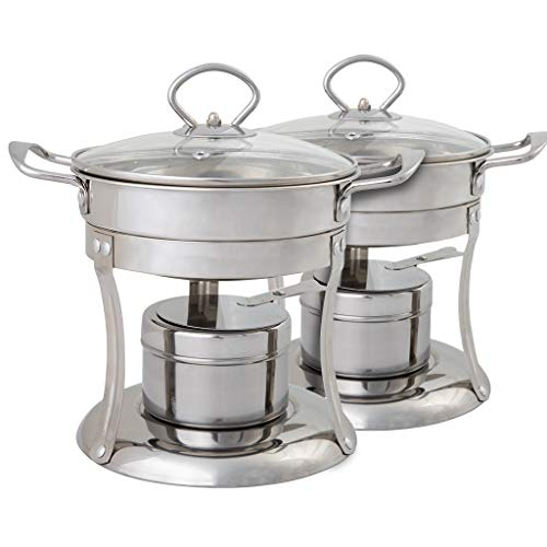 Hot Pot & Shabu Shabu Pot Cooker. 2 Hot Pots Great for Entertaining and for Personalizing your own Chinese Hot Pot at Home. Set of 2. Fuel not included.