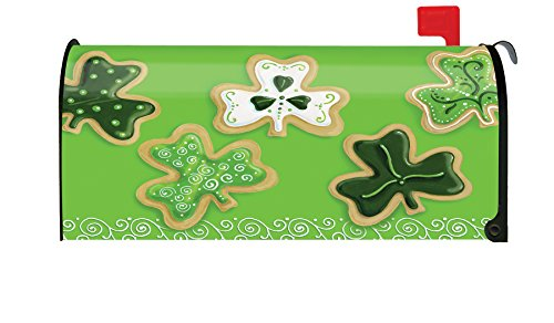Toland Home Garden Shamrock Cookies Cute St Patrick Clover Cookie Magnetic Mailbox Cover