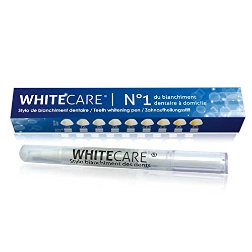Stylo Blancheur Dent Goût Menthe WHITECARE made in USA   Stylo Blanchiment Dents Blanches   Kit Blanchiment Dentaire Peroxyde 0,1%   Teeth Whitening Kit   Efficacité Prouvée Scientifiquement