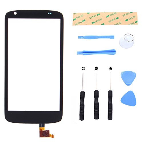 Lusee Digitizer Bildschirm für HTC Desire 526G 526H D526 Vorderseite Ersatz Touch Screen Display Reparatur Touchscreen Glas Replacement Front Komplettes Glas Touch Panel mit Werkzeug Set Schwarz