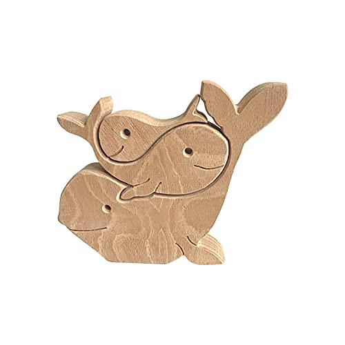 Tierische Intarsien Holz Ornamente Skulptur Ornamente Set Home Office Desktop Menschen Kreative Geschenke Kinder Haus Dekoration Handwerk Projekt