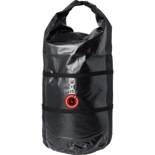 QBag Hecktasche Motorrad Motorradtasche Gepäckrolle wasserdicht 01, staubdicht, hochreißfest, Rollverschluss, variierbar, widerstandsfähig, inklusive Zwei Kompressionsgurte, Schwarz, 65 Liter
