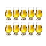 QLTY 10 Pezzi di Bicchiere da degustazione di Whisky,Bicchiere in Vetro (170 ml),Bicchiere da Whisky,Bicchieri Whisky,Bicchieri da Shot