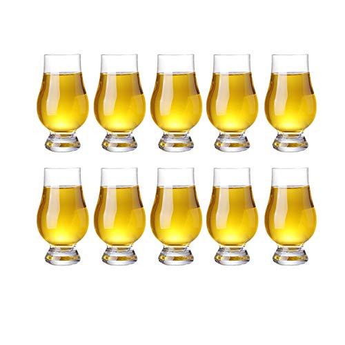 QLTY 10 Piezas de Cristal de cata de Whisky,Vaso de Vidrio (170...