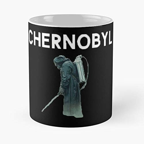KiwLa TV Gas Mask Merchandise Show Merch Designs Shows Chernobyl Taza de café con Leche 11 oz