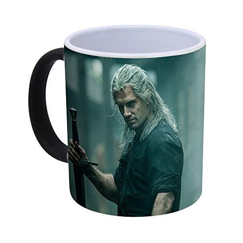The Witcher Game & TV Series Kaffeetasse mit Farbwechsel, wärmeempfindlich – 300ml (Geralt)