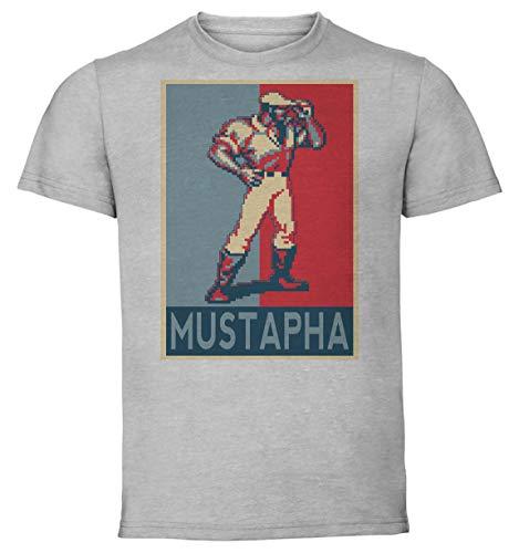 T-Shirt Unisex - Color Gray - Propaganda - Pixel Art - Cadillac and Dinosaurs - Mustapha Taglia Medium