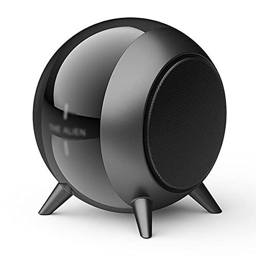 CHOEC Altavoz Portátil Bluetooth Retro Altavoz Bluetooth, con Cáscara De Metal Bluetooth 5.0 Batería De Larga Duración Mini Conexión Rápida Portátil Adecuada para Reuniones Familiares (Negro)