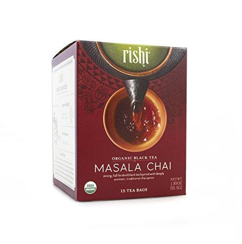 Rishi Tea Organic Masala Chai Tea Bags, 15 Count (Pack of 6)