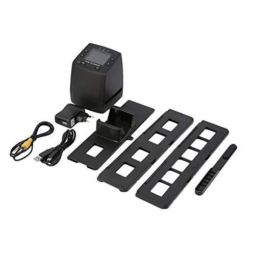 Escáner de Alta resolución Convierte Digital Diapositivas negativas USB Escáner fotográfico Convertidor de película Digital portátil LCD de 2.4 Pulgadas - Negro