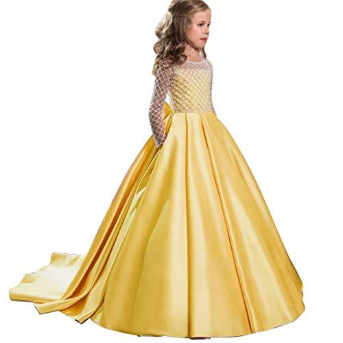 Allence Weihnachten Mädchen Prinzessin Kleid Ärmellos Festlich Elegante Tüll Abendkleider für Hochzeit Brautjungfer Prom Cocktail 2-13 Jahre