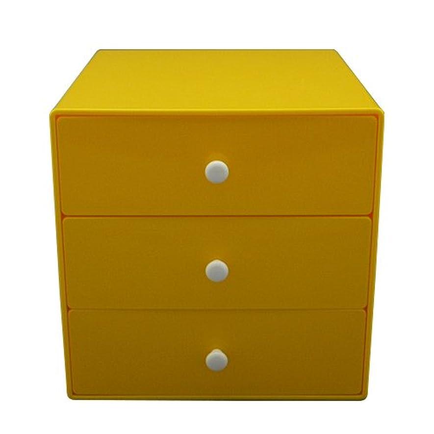 シルク原油バスタイガークラウン 収納ボックス イエロー 本体サイズ:W16.5×D17.5×H16.5cm