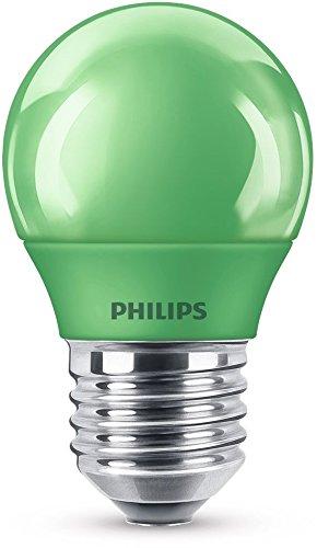 Philips LED Lampe, E27, Partylicht, grün, ideal zur Partybeleuchtung, Tropfen