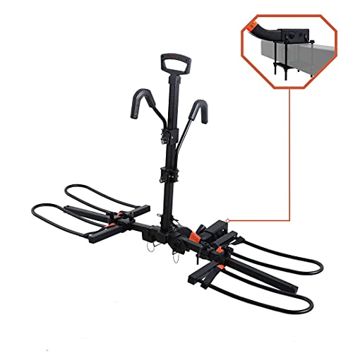 HYPERAX Blast RV -E Bike Rack Carrier with Bumper Mount Adapter Exclusive for RV, Camper, Trailer with Bumper - Fits Up to 2X 45lbs MTB E MTB Road Gravel Bikes with Up to 5-inch Fat Tires