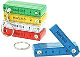 com-four® 5X Mini règle Pliante comme Un Porte-clés en Plastique, règle Pliante 50 cm avec 10...
