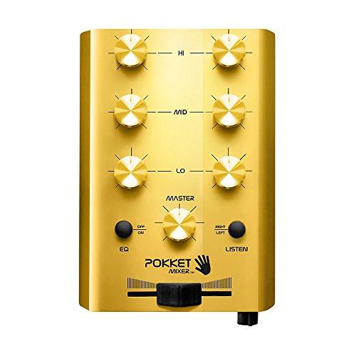 Pokketmixer - Der Mini-DJ-Mixer - Für Coole Partys Überall Mit Handy Smartphone MP3-Player Tablet - Ohne Strom (Gold) - Männer Geschenk
