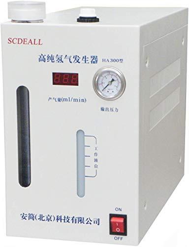 CGOLDENWALL Wasserstoffgenerator mit 0-300 ml/min hoher H2-Durchflussleistung 99,999% hochreines mit Wasserstoff absorbierendes Röhrchen für Trinkwasser&Gaschromatographie&Krankheiten (HA300)
