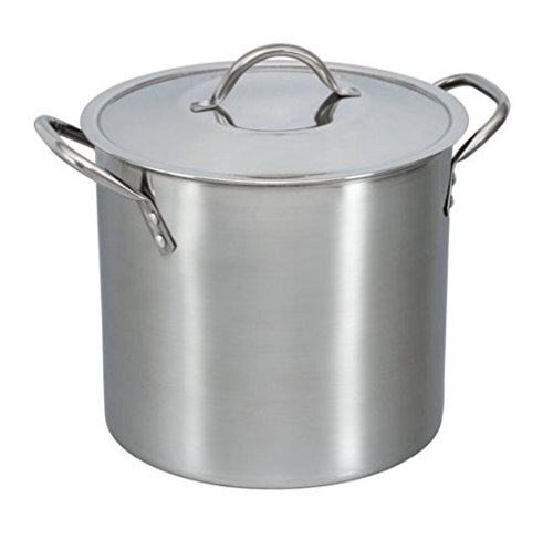 8 Quart Stockpot with Cover Lid, Stainless Steel, for Soups, Stews, Broths, Pastas and Sauces (2) (1) (8-Quart)