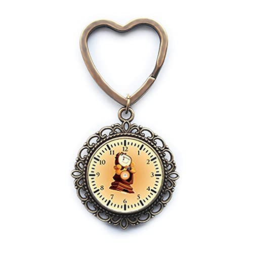 Llavero de cristal de dibujos animados de anime, reloj de tecnología regalo de cumpleaños, regalo para hombres, marido regalo para hombres, joyería PU158