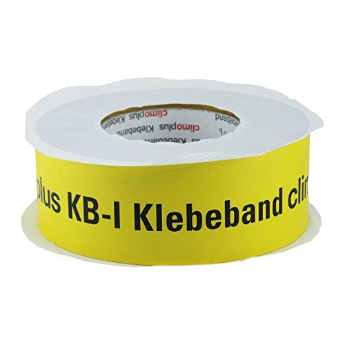 Climoplus Klebeband KB-I 60mm 40m - zur Verklebung von Dampfsperrfolien, Dampfbremsfolien, Dampfbremse, Dampfsperre