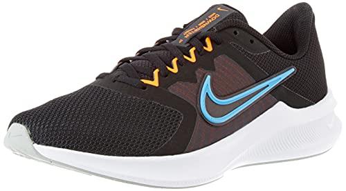 Nike Downshifter 11, Zapatillas para Correr Hombre, Black Coast Total Orange Dk Smoke Grey White Lt Smoke Grey, 42.5 EU