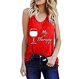 Camiseta de tirantes para mujer, sin mangas, suelta, para cosecha de verano, holgada, básica, moderna, color negro, verde, vino, verde militar, lila, rojo rojo XXXL