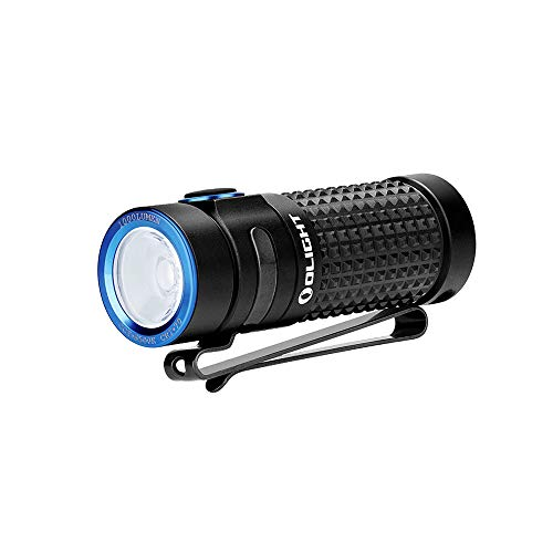 Olight® S1R II 1000 Lumens Compact Rechargeable EDC Flashlight, with High Performance LED, 1 x IMR16340 Battery and Magnetic USB Charger Side-Switch EDC Light for Outdoors Camping Hiking